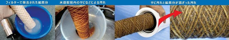 電極ユニット・フィルターの汚れ2